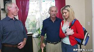 Braces teen Stacie plows old man