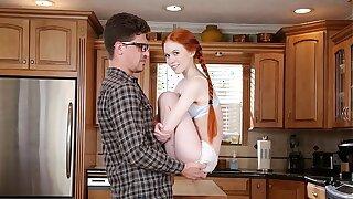 DON'T FUCK MY Daughter-in-law - Petite Redhead Teen Dolly Little Fucks Her Big Manmeat Tutor Bruce Venture