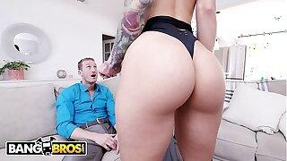BANGBROS - Uber-sexy Call girl Katrina Jade Shows Her Wild Client Ryan McLane A Good Time